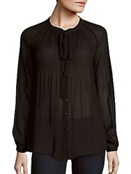 Romeo And Juliet Couture Accordion Pleated Top Black