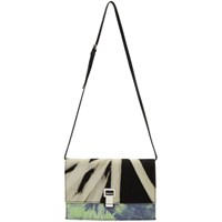 Proenza Schouler Black And Yellow Small Tie Dye Lunch Bag