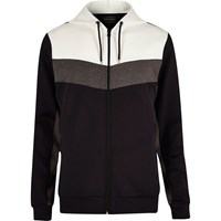 River Island Mensnavy Color Block Zip Hoodie