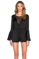 Band Of Gypsies Bell Sleeve Romper Black