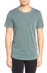 Velvet By Graham And Spencer Men's Raw Edge Pocket T Shirt