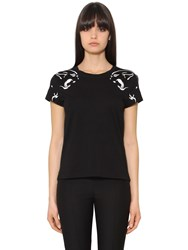 Valentino Panther Cotton Jersey T Shirt