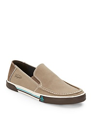 Original Penguin Ernie Leather Trimmed Loafers Fossil