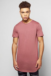 Boohoo Scoop Hem T Shirt Pink