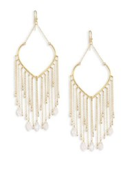 Chan Luu Moonstone Fringe Chandelier Earrings
