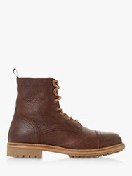 Bertie Congress Leather Boots Brown