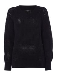 Therapy Arlo Crossover V Fisherman Jumper Black