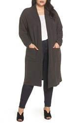 Bobeau Plus Size Cozy Cardigan Black
