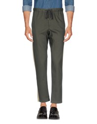Cropped Pleated Organic Cotton Trousers - Sage greenFanmail