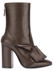 N 21 No21 Knot Detail Boots Brown
