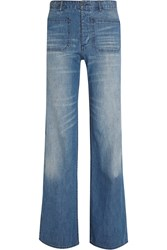 Nlst High Rise Flared Jeans Blue