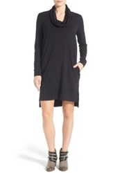 Caslon French Terry Cowl Neck Dress Black