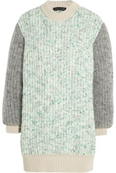 Jonathan Saunders Oversized Wool Blend Sweater Gray