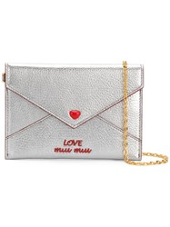 Miu Miu Envelope Clutch Grey
