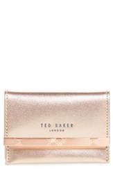Ted Baker London Niccole Accordion Leather Card Case Pink Rose Gold