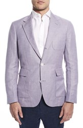 Strong Suit By Ilaria Urbinati Ignatius Slim Fit Linen And Wool Blazer Wisteria