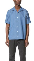 Camo Bob Short Sleeve Shirt Light Blue