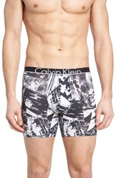 Calvin Klein Men's Id Stretch Cotton Boxer Briefs Chaos Black Print