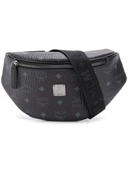 Mcm All Over Logo Belt Bag Black