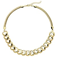 Monet Heart Collar Necklace Gold