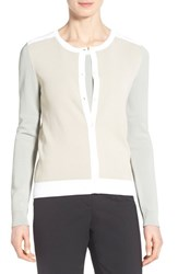 Women's Boss 'Fatila' Colorblock Cardigan Sand Fantasy