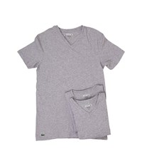 Lacoste Essentials 3 Pack V Neck Tee Grey Underwear Gray