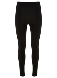Mint Velvet Black Skirted Legging