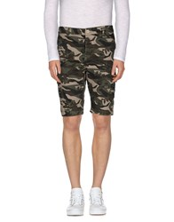 Yes Zee By Essenza Trousers Bermuda Shorts Men Military Green