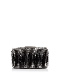 Sondra Roberts Glass Bead Box Clutch Black Gunmetal
