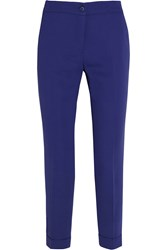 Etro Sigaretta Stretch Crepe Tapered Pants Royal Blue
