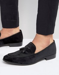 Dune Slipper Loafers In Velvet Black Red