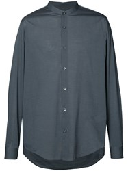 Vince Classic Shirt Men Cotton M Grey