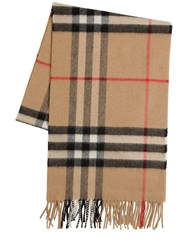Burberry Classic Check Giant Icon Wool Scarf Archive Beige