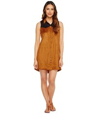 Tasha Polizzi Cowgirl Shirtdress Brown Women's Dress