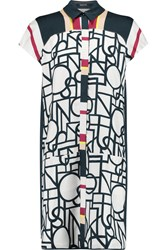 Raoul Teegan Printed Silk Shirt Dress White