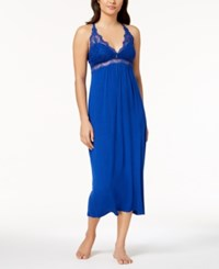 Thalia Sodi Lace Trimmed Knit Nightgown Created For Macy's Modern Blue