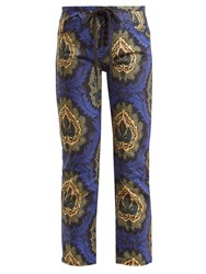 Isabel Marant Rupsy Floral Print Cropped Jeans Blue Multi