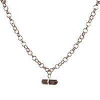 Tiana Jewel Goddess Choker Smokey Quartz Necklace Black