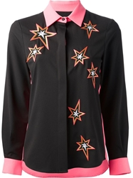 Emma Cook Embroidered Star Blouse Black