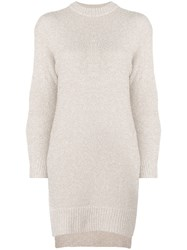 Nude Sheen Knitted Dress Nude And Neutrals