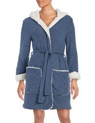 Splendid Fleece Lined Short Robe Grey