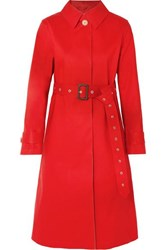 Mackintosh Bonded Cotton Trench Coat Red