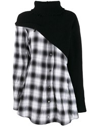 Unravel Project Contrast Tartan Shirt Dress Black