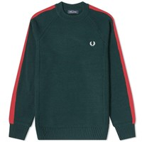 Fred Perry Broken Tipped Crew Knit Green