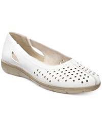 Easy Street Shoes Easy Street Tobago Flats Women's Shoes White