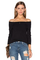 525 America 3 4 Sleeve Off Shoulder Sweater Black
