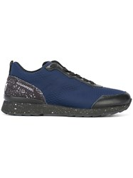Hogan Rebel Paint Splatter Effect Sneakers Blue