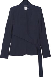 Dion Lee Belted Wool Blazer Midnight Blue