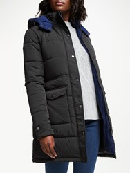 John Lewis Collection Weekend By Quilted Puffer Jacket Black Navy