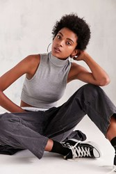 Kimchi And Blue Turtleneck Crop Tank Top Grey